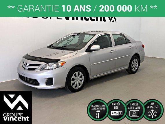 Toyota Corolla CE ** GARANTIE 10 ANS ** 2012