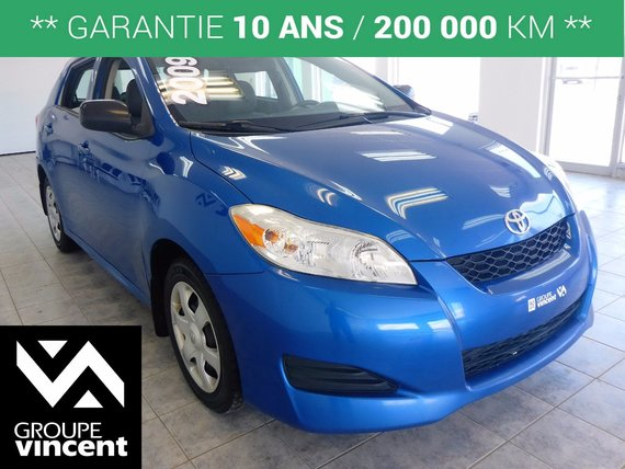 Toyota Matrix **ECONOMIQUE** 2009