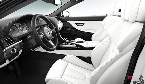 Opal White Full Merino Leather with Black Interior