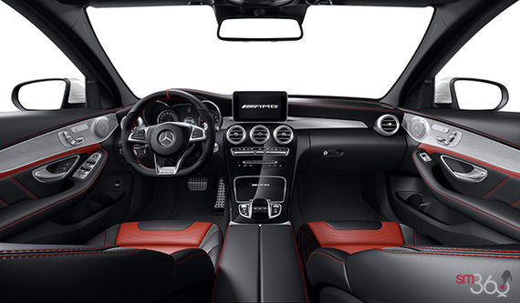 Black/Red Pepper AMG Nappa Leather