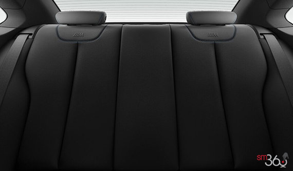 Black Dakota Leather with Blue Contrast Stitching