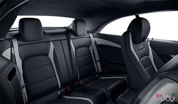 Black AMG Nappa Leather with Grey Stripes