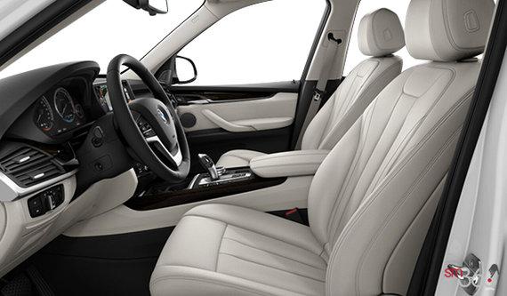Ivory White Dakota Leather with black interior