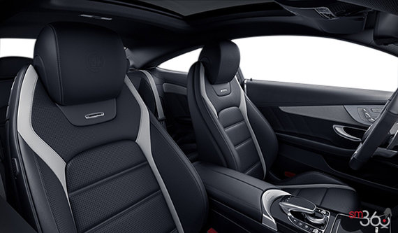 Black - Single Tone (with grey stripes) AMG Nappa Leather
