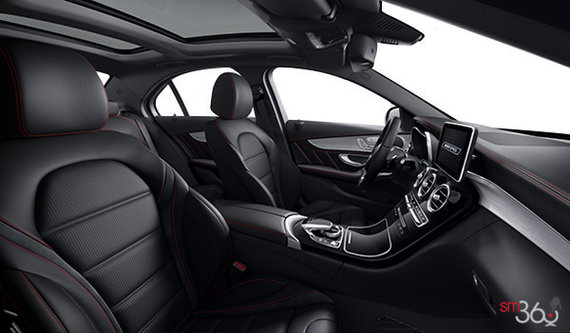 Black AMG Leather w/Red Top Stitching