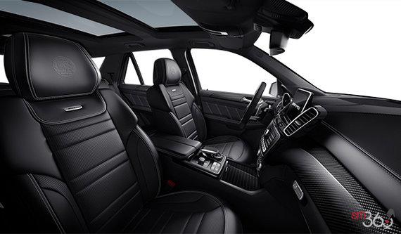 Cuir AMG Nappa exclusif de ton noir avec piqûres/détails gris