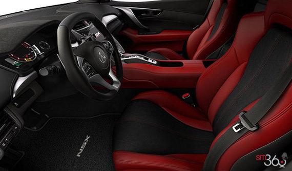 Red Alcantara Leather
