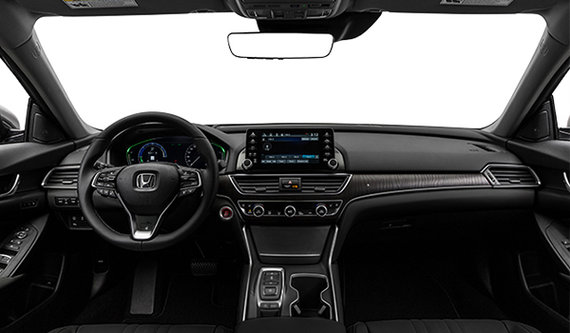 interior view 2019 honda accord hybrid touring black leather black leather black leather black leather