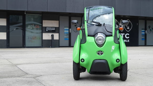 The Toyota i-Road, an innovative blend of car and a motorcycle...