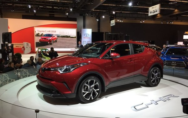 The Toyota 2018 C-HR unveiled at the Montreal Auto Show!