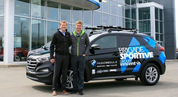 Groupe Vincent, fier partenaire de Hugo Houle!