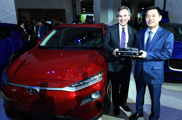 Hyundai Kona, gagnante des prix du NACTOY, meilleur achat 2019