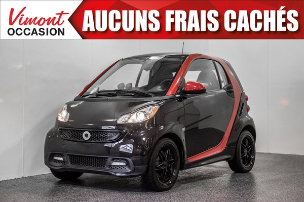 smart Fortwo 2013+CUIR+SHARP RED+BLUETOOTH+SIEGES CHAUFFANTS 2013