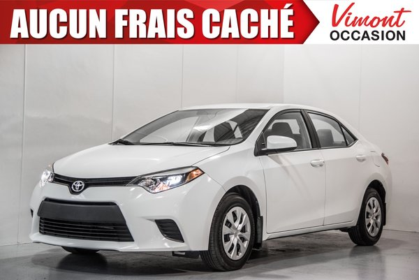 2014 Toyota Corolla 2014+LE+ECO+CAMERA RECUL+SIEGES CHAUFFANTS