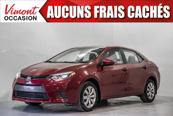2015 Toyota Corolla 2015+LE+CAMERA RECUL+SIEGES CHAUFFANTS+BLUETOOTH