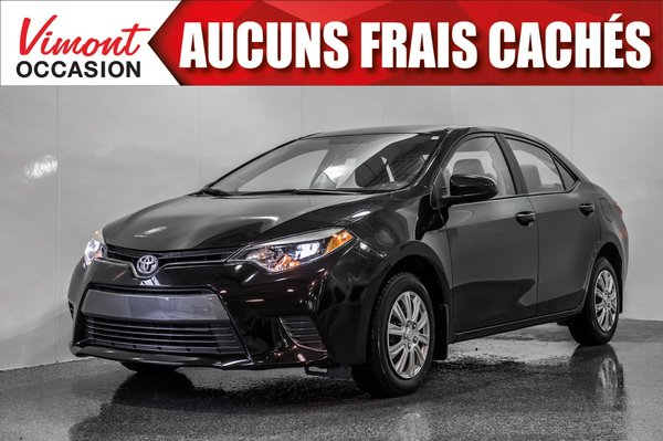 2016 Toyota Corolla 2016+LE+CAMERA RECUL+SIEGES CHAUFFANTS+BLUETOOTH