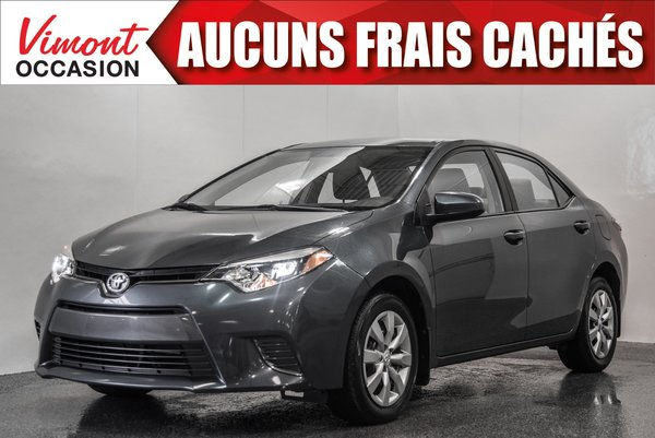 Toyota Corolla 2016 LE+A/C+CAMERA+BLUETOOTH 2016