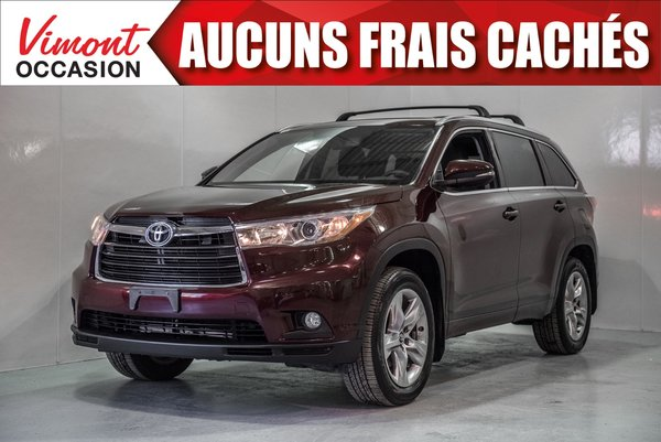 2016 Toyota Highlander 2016+LIMITED+NAV+CUIR+TOIT PANORAMIQUE+BLUETOOTH