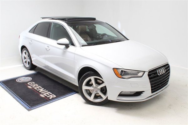 used 2015 audi a3 quattro cuir toit ouvrant pneus d 39 hiver blanc 80 000 km for sale 23490 0. Black Bedroom Furniture Sets. Home Design Ideas