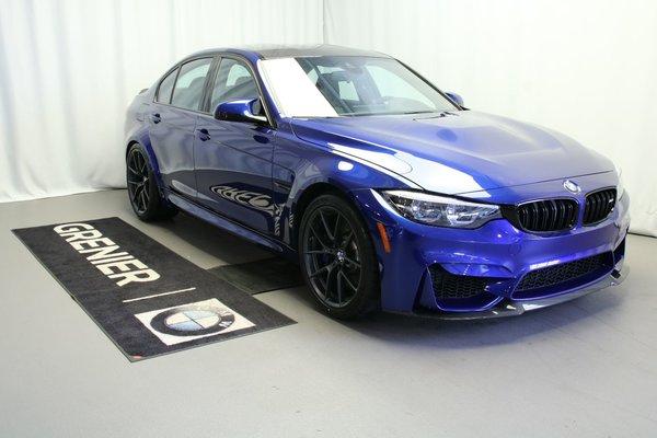Used 2018 BMW M3 CS,Radio Satellite SiriusXM Black/White 125