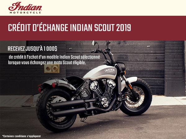 Alary Sport - Crédit d'échange Indian Scout 2019