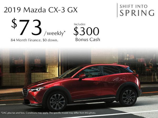 Atlantic Mazda - 2019 Mazda CX-3 Just $73 Weekly