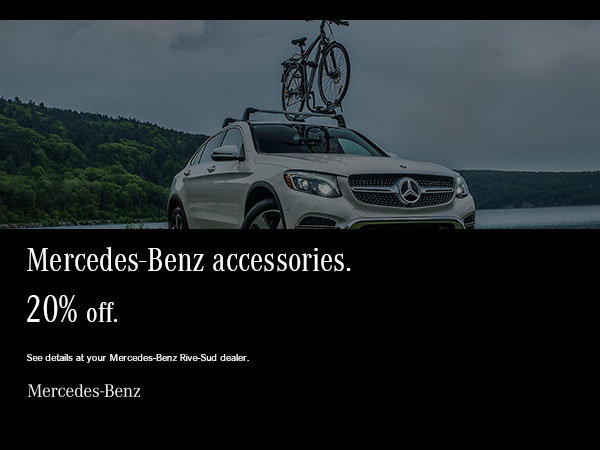 Mercedes-Benz accessories at 20% off.