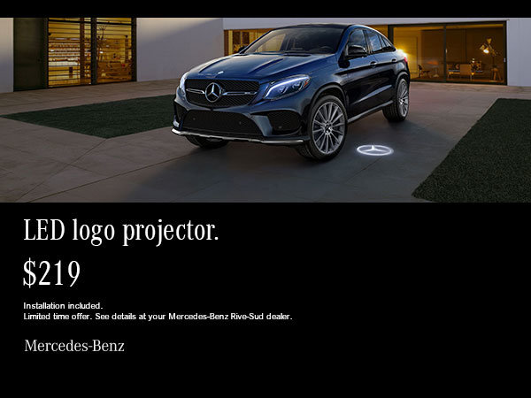 Mercedes-Benz LED projector.