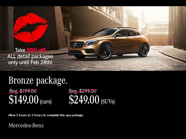 Bronze auto spa package.