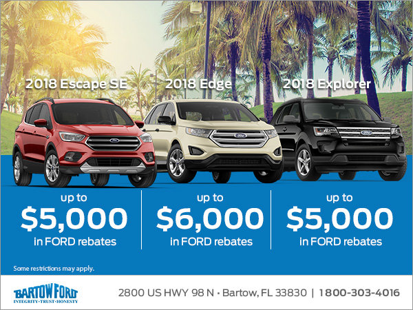 Up To  In Ford Rebates In June