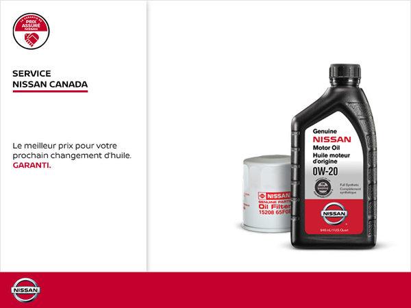 Changement d'huile Service Nissan