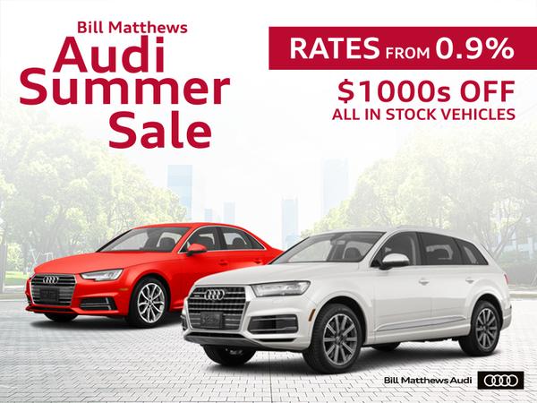 Bill Matthews Audi Summer Sale
