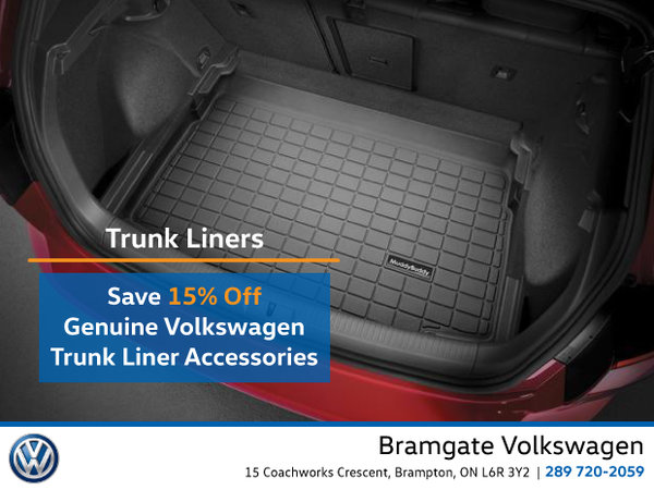 15% Off Genuine VW Trunk Liners