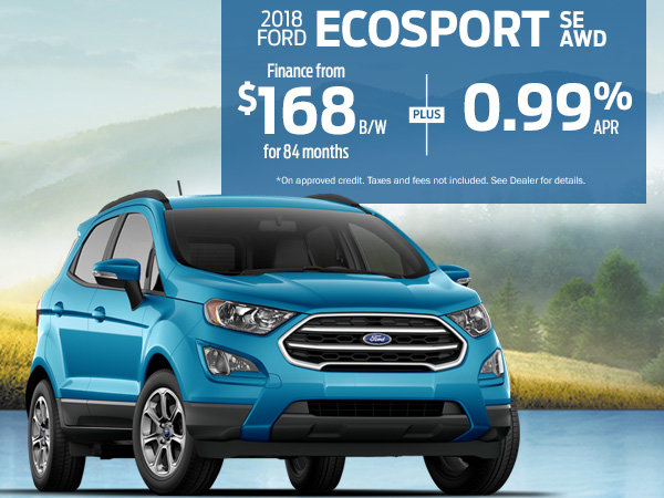 Finance the 2018 Ford EcoSport SE for $168 Bi-Weekly