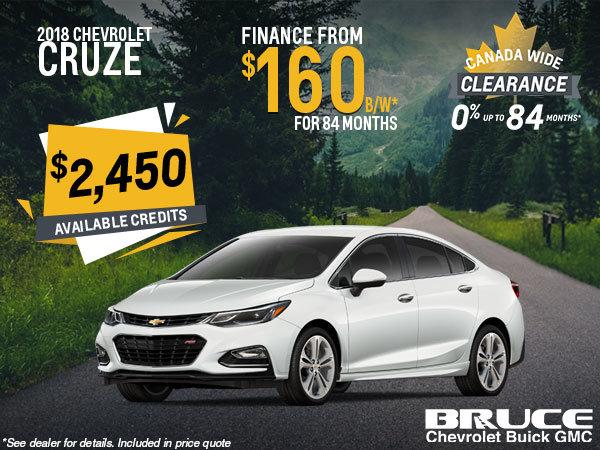 Finance the 2018 Chevrolet Cruze