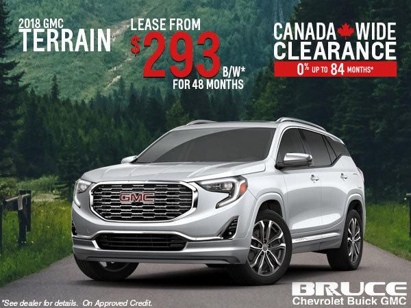 Gmc Terrain Lease >> Lease The 2018 Gmc Terrain Bruce Chevrolet Buick Gmc Middleton