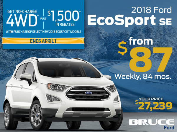 No Charge 4WD on the 2018 EcoSport