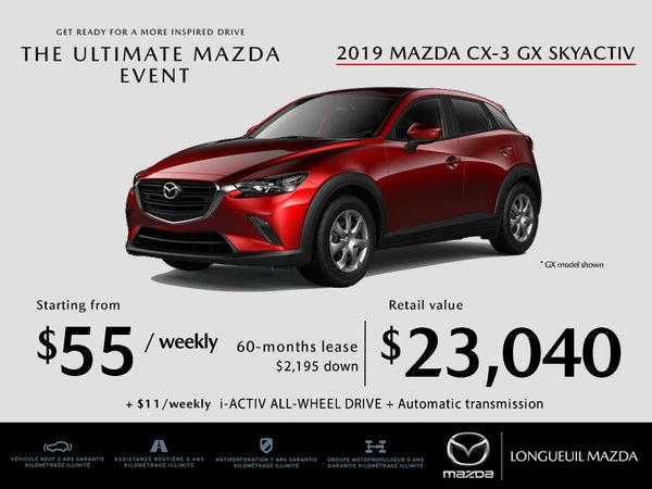 2019 Mazda CX-3 - Promotion