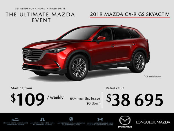 2019 Mazda CX-9- Promotion