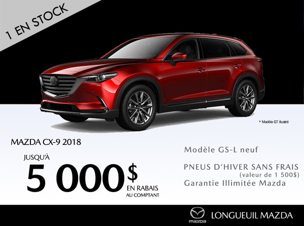 Mazda CX-9 2018 - Promotion