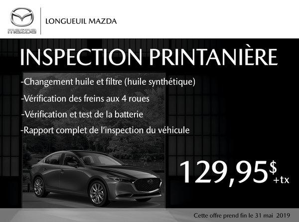 Inspection Printanière de votre Mazda