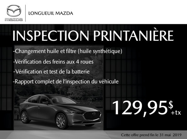 Spring inspection of your Mazda