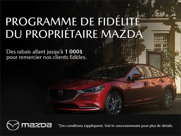 Le programme de fidélité du propriétaire Mazda