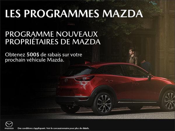Programme nouveaux proprios Mazda