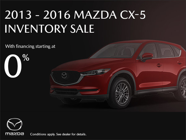 2013 - 2016 Mazda CX-5 Inventory Sale