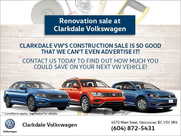 Construction sale!