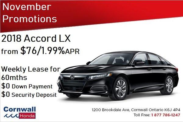 2018 Accord LX