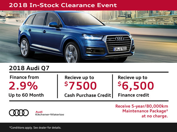 Drive the 2018 Audi Q7 Today