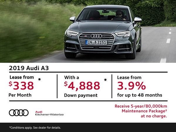 Drive the 2019 Audi A3 Today