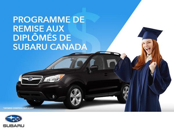 Programme de remise aux diplômés de Subaru Canada
